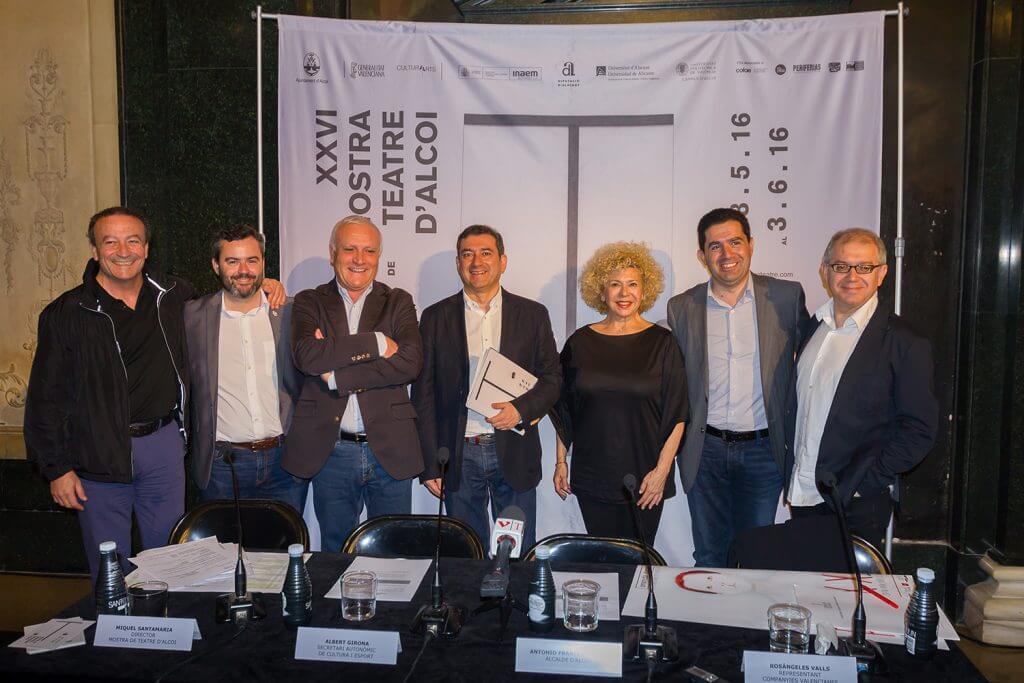 El Secretari Autonòmic de Cultura, Albert Girona, presenta a València la XXVI Mostra de Teatre d'Alcoi
