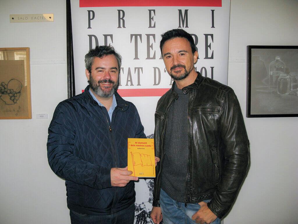 Guillem Clua a la presentació de la seua obra premiada al Premi De Teatre Ciutat d'Alcoi 2017