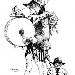 Logo del Premi de Teatre Ciutat d'Alcoi. Obra d'Alejandro Soler